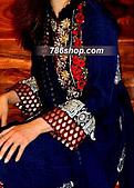 Blue Crinkle Chiffon Suit - Pakistani Party Wear Dress