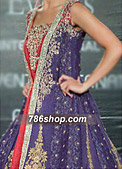 Blueberry Jamawar Zari Suit  - Pakistani Formal Designer Dress