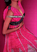 Hot Pink Chiffon Suit - Pakistani Formal Designer Dress