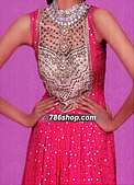 Hot Pink Chiffon Suit - Pakistani Party Wear Dress