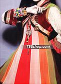 Multi Color Crinkle Chiffon Suit