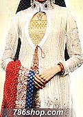 Off-White/Blue Chiffon Lehnga- Pakistani Party Wear Dress