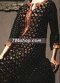 Black Chiffon Jamawar Suit- Pakistani Formal Designer Dress