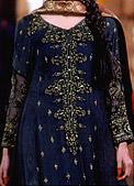 Teal Crinkle Chiffon Suit- Pakistani Party Wear Dress