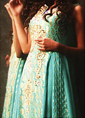 Sea Green Chiffon Jamawar Suit