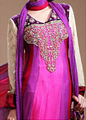 Shocking Pink/Purple Chiffon Suit