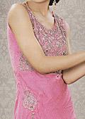 Pink Crinkle Chiffon Suit - Pakistani Formal Designer Dress