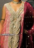 Pink Jamawar Chiffon Suit