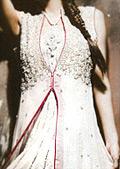 White Crinkle Chiffon Suit- Pakistani Formal Designer Dress