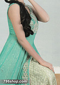 Light Sea Green Crinkle Chiffon Suit - Pakistani Party Wear Dress