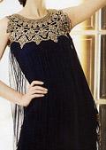 Black Crinkle Chiffon Suit- Pakistani Party Wear Dress