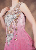 Pink Crinkle Chiffon Suit - Pakistani Party Wear Dress