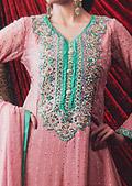 Tea Pink Jamawar Chiffon Suit
