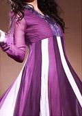 Purple Crinkle Chiffon Suit