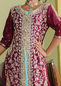 Magenta Crinkle Chiffon Suit - Indian Designer Dress