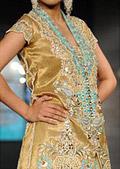 Golden/Turquoise Schmooze Silk Suit