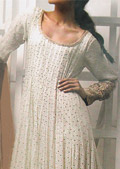 Off-White Crinkle Chiffon Suit- Pakistani Party Wear Dress