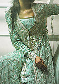 Sea Green Crinkle Chiffon Suit- Pakistani Wedding Dress