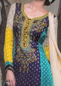 Multicolor Jamawar Suit- Pakistani designer dress