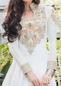 White Crinkle Chiffon Suit- Pakistani Party Wear Dress
