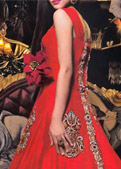 Red Silk Suit- Designer dress