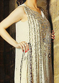 Cream Crinkle Chiffon Suit- Pakistani Formal Designer Dress