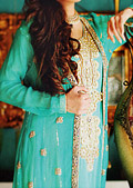 Sea Green Crinkle Chiffon Suit