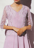 Lilac Crinkle Chiffon Suit