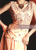 Peach Jamawar Lehnga- Pakistani Formal Designer Dress