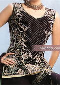 Black Georgette Sharara- Pakistani Bridal Dress