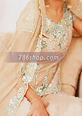 Skin Crinkle Chiffon Lehnga- Pakistani Formal Designer Dress