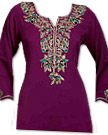 Dark Purple Georgette Kurti