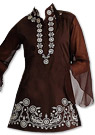 Dark Brown Georgette Kurti
