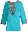 Sea Green Khaddi Cotton Kurti