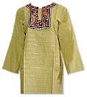 Lime Green Khaddi Cotton Kurti