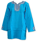 Turquoise Khaddi Cotton Kurti