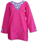 Shocking Pink Khaddi Cotton Kurti