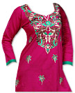 Shocking Pink Cotton Kurti