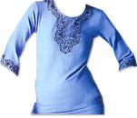 Light Blue Khaddi Cotton Kurti