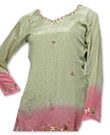 Light Green/Pink Chiffon Kurti