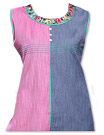 Pink/Blue Khaddi Cotton Kurti