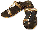 Ladies Slip-on-khussa- Golden   - Pakistani Khussa Shoes