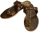 Ladies Slip-on Khussa- Brown- Pakistani Khussa Shoes