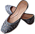 Ladies Khussa- Grey- Khussa Shoes for Women