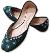 Ladies Khussa- Dark Green  - Khussa Shoes for Women