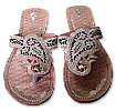 Ladies Slip-on-khussa Golden/Black - Pakistani Khussa Shoes