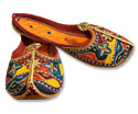 Ladies Slip-on Khussa- Multicolor - Khussa Shoes for Women