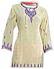 Cream/Pink Georgette Trouser Suit- Indian Dress