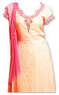 Peach/Turquoise Chiffon Suit - Indian Dress