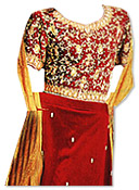 Maroon Pure Katan Lehnga- Pakistani Wedding Dress